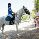 Обучение лошади верховой езде